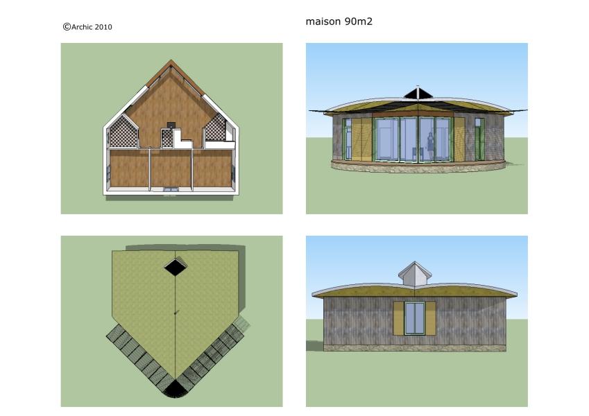 Maisons bois 3 for Prix maison bois 90m2